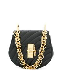 schwarze gesteppte Leder Umhängetasche von Chloé
