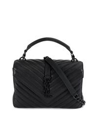 schwarze gesteppte Leder Umhängetasche von Saint Laurent