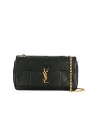 schwarze gesteppte Satchel-Tasche aus Leder von Saint Laurent