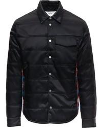schwarze gesteppte Shirtjacke von Aztech Mountain