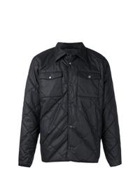 schwarze gesteppte Shirtjacke von Barbour