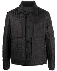 schwarze gesteppte Shirtjacke von Craig Green