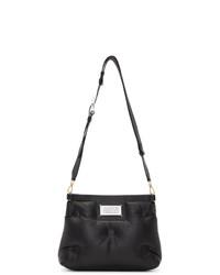 schwarze gesteppte Shopper Tasche aus Leder von Maison Margiela