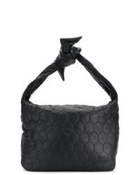 schwarze gesteppte Shopper Tasche aus Leder von Victoria Beckham
