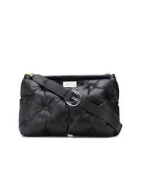 schwarze gesteppte Shopper Tasche aus Nylon von Maison Margiela