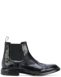 schwarze Gummi Chelsea Boots von Eleventy