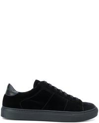 schwarze Gummi niedrige Sneakers von Dondup