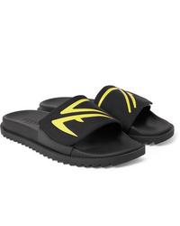 schwarze Gummi Sandalen von Fendi