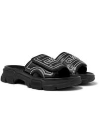schwarze Gummi Sandalen von Gucci