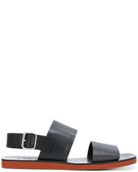 schwarze Gummi Sandalen von Marni