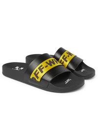 schwarze Gummi Sandalen von Off-White