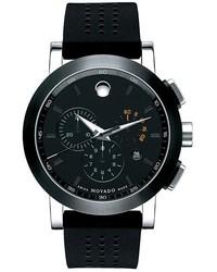 schwarze Gummi Uhr