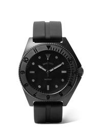 schwarze Gummi Uhr von Bamford Watch Department