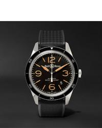 schwarze Gummi Uhr von Bell & Ross