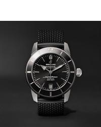 schwarze Gummi Uhr von Breitling