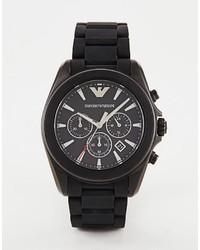 schwarze Gummi Uhr von Emporio Armani