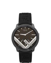 schwarze Gummi Uhr von Fendi