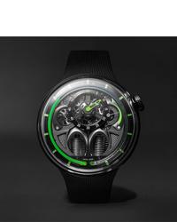 schwarze Gummi Uhr von HYT