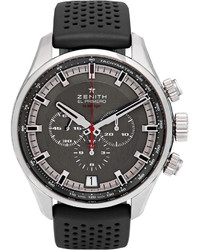 schwarze Gummi Uhr von Zenith