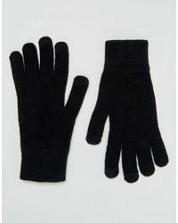 schwarze Handschuhe von Asos