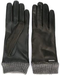 schwarze Handschuhe von Diesel