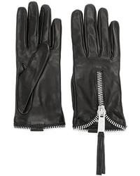 schwarze Handschuhe von Dsquared2
