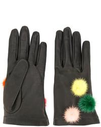 schwarze Handschuhe von Fendi
