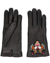schwarze Handschuhe von Gucci