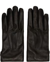 schwarze Handschuhe von Lanvin