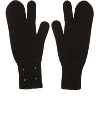 schwarze Handschuhe von Maison Margiela