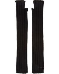 schwarze Handschuhe von MM6 MAISON MARGIELA