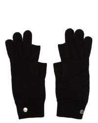 schwarze Handschuhe von Rick Owens