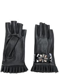 schwarze Handschuhe von Twin-Set