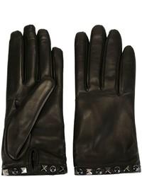 schwarze Handschuhe von Valentino