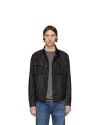 schwarze Harrington-Jacke von Belstaff