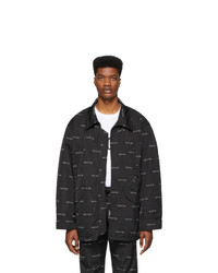 schwarze Harrington-Jacke von Fear Of God