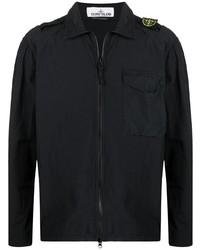 schwarze Harrington-Jacke von Stone Island