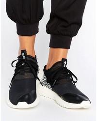 Schwarze Hohe Sneakers aus Leder von adidas