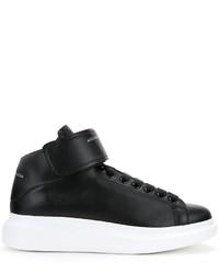 schwarze hohe Sneakers aus Leder von Alexander McQueen