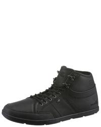 schwarze hohe Sneakers aus Leder von Boxfresh