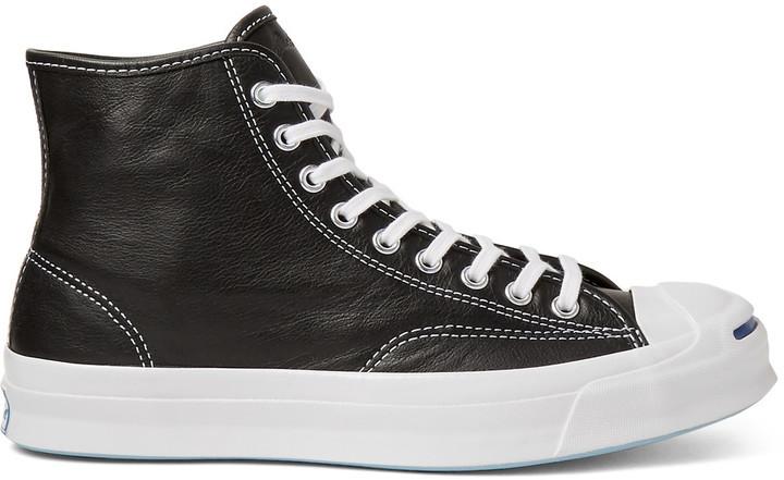 best loved c7021 09440 schwarze hohe Sneakers aus Leder von Converse