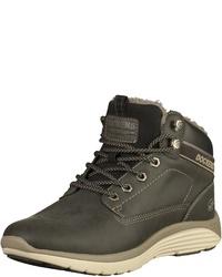 schwarze hohe Sneakers aus Leder von Dockers by Gerli
