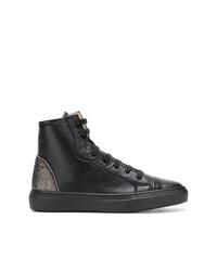schwarze hohe Sneakers aus Leder von Fabiana Filippi