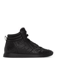 schwarze hohe Sneakers aus Leder von Fendi