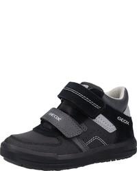 schwarze hohe Sneakers aus Leder von Geox