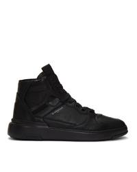 schwarze hohe Sneakers aus Leder von Givenchy