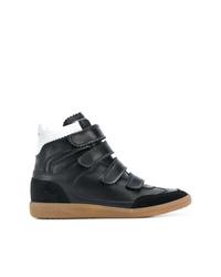 schwarze hohe Sneakers aus Leder von Isabel Marant