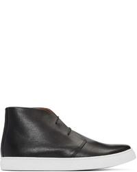 schwarze hohe Sneakers aus Leder von Junya Watanabe