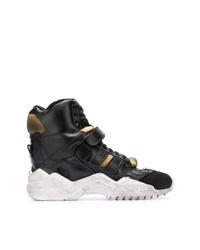 schwarze hohe Sneakers aus Leder von Maison Margiela