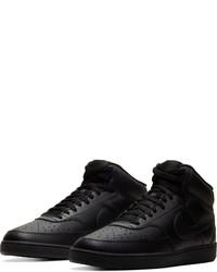 schwarze hohe Sneakers aus Leder von Nike Sportswear